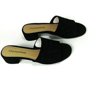 🌸3/$10! Cityclassified block heel mules
